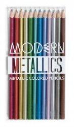 Metaliczne kredki ołówkowe