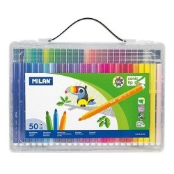 Flamastry Milan 50 kolorów w plastikowej walizce