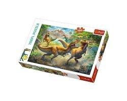 Puzzle Walczące Tyranozaur 160