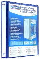 Segregator ofertowy DONAU, PP, A4/4RD/20, niebieski