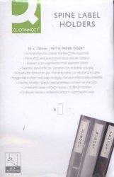 Kieszeń samoprzylepna Q-CONNECT na etykiety 55x102mm, 6 sztuk