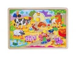 Układanka puzzle wieś
