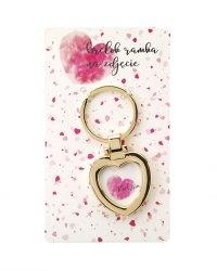 Brelok amulet na zdjęcie z hasłem Kocham