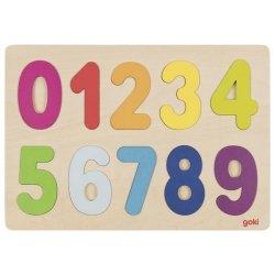 Puzzle cyferki - kolory pastelowe