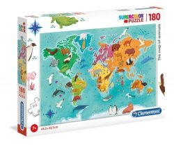 Puzzle Supercolor 180 The map of animals