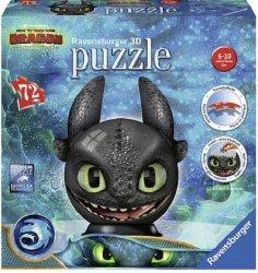Jak wytresować smoka 3 Puzzle 3D Kula 72