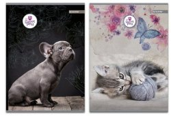 Zeszyt A4 w kratkę 60 kartek Sweet Pets 5 sztuk