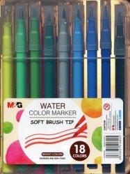 Pisak artystyczny pędzelkowy 1-4 mm wodny 18 kolorów