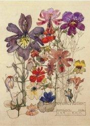 Karnet B6 z kopertą Butterfly Flower