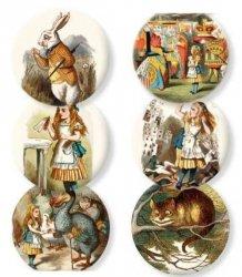 Lusterko ozdobne Alice in Wonderand