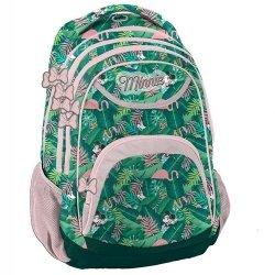 Plecak Minnie zielono-różowy
