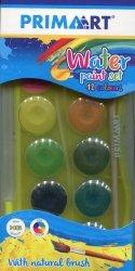 Farby akwarelowe 12 kolorów + pędzelek