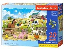 Puzzle Maxi konturowe- Animals on the Farm 20