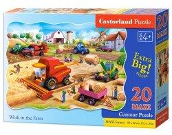 Puzzle Maxi konturowe- Work in the Farm 20