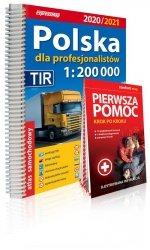 Polska dla profesjonalistów 1:200 000 Atlas samochodowy 2020/2021+ instrukcja pierwszej pomocy