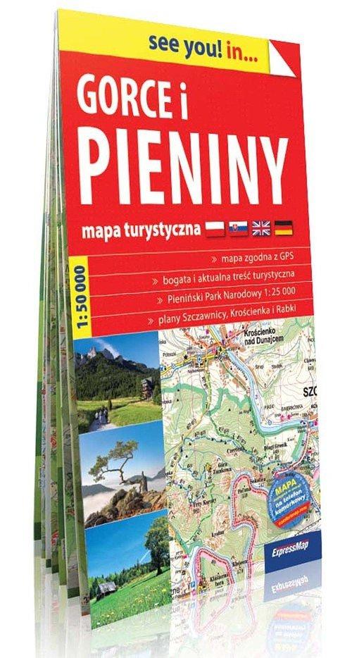 Gorce i Pieniny mapa turystyczna