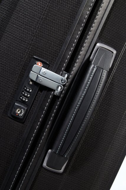 Boczna rączka skórzana, płaski zamek szyfrowy z systemem TSA