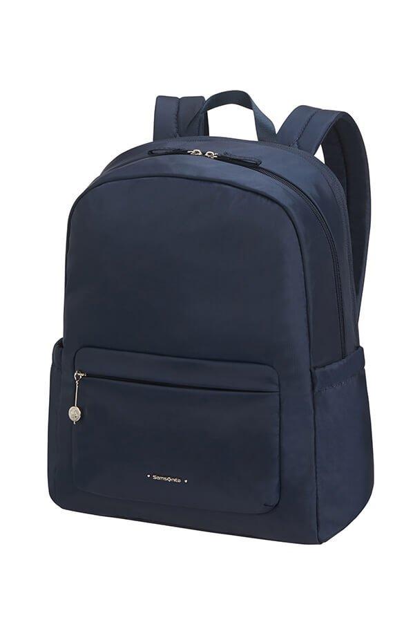 """Plecak na laptopa 14,1"""" wykonany z mocnego nylonu. Plecak posiada zewnętrzne i boczne kieszenie"""