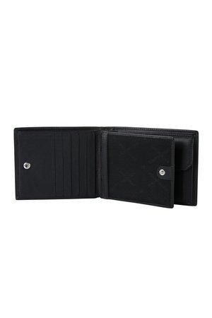 Potrfel posiada ruchomą część z okienkiem. Część ruchoma spinana na zatrzask z główną częścią portfela
