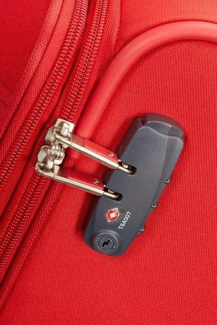 Bagaż posiada zamek szyfrowy z systemem TSA