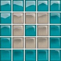Glass Azure Dark Mosaic C New 14,8x14,8