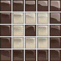 Glass Beige Brown Mosaic C New 14,8x14,8