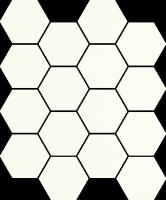 Mozaika Bianco Hexagon 22x25,5