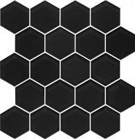 Mozaika Szklana Nero Heksagon 28x25,8