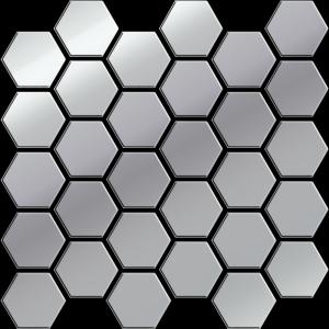 Ceramika Color Platinum Glass Hexagon Mozaika 25x25,8