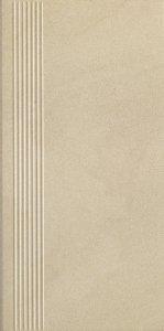 Paradyż Rockstone Beige Stopnica Prosta Nacinana Mat 29,8x59.8