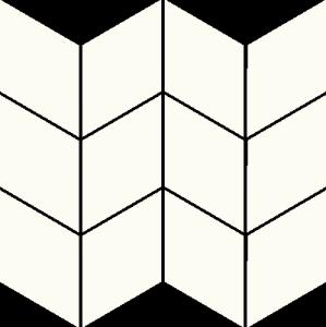 Mozaika Bianco Romb Braid 20,5x23,8