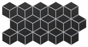 Rhombus Black 26,5x51
