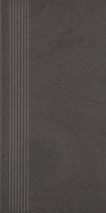 Paradyż Rockstone Grafit Stopnica Prosta Nacinana Mat 29,8x59.8