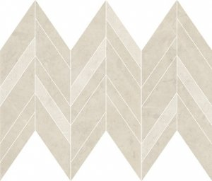 Manzila Beige Chevron Mix Mosaic Matt 25,5x29,8