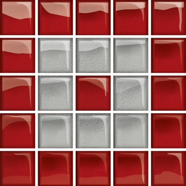 Glass Silver Red Mosaic C New 14,8x14,8