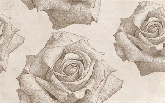 Rosita Cream Inserto Flower 25x40