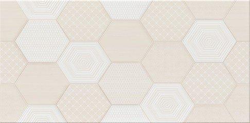 Tulisa Cream Inserto Geo 29,7x60