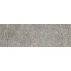 CERRAD gres softcement silver decor geo rect.  1197x297x8 g1 m2