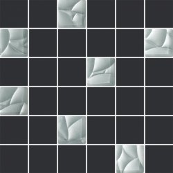 PARADYZ esten silver/grafit mozaika cieta k.4,8x4,8  29,8x29,8 g1