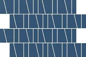 CERSANIT zambezi blue trapeze mosaic matt 20x29,9 g1 szt