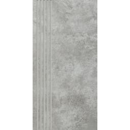 PARADYZ scratch grys stopnica prosta nacinana polpoler 29,8x59,8 g1