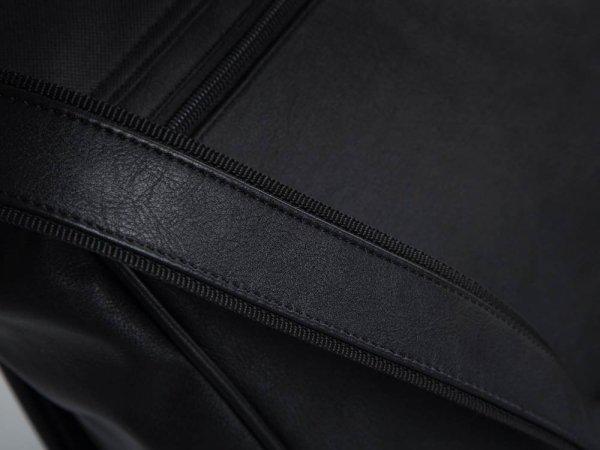 Torba męska na ramię Solome Codura czarna detal