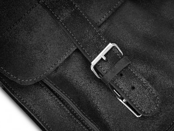 Skórzana torba na ramię Solome Lago 02Z grafitowa detal 1