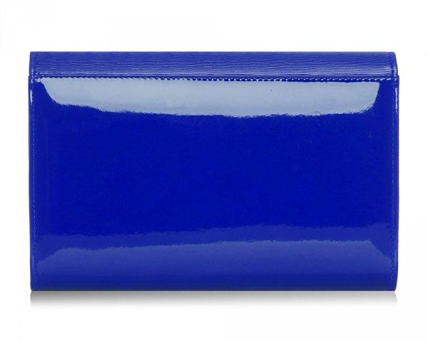 Kopertówka torebka wizytowa M10 Solome kobaltowa spiro tył