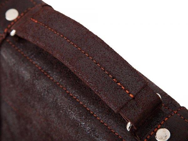 Skórzana torba na ramię Solome Lago 02Z karmel detal