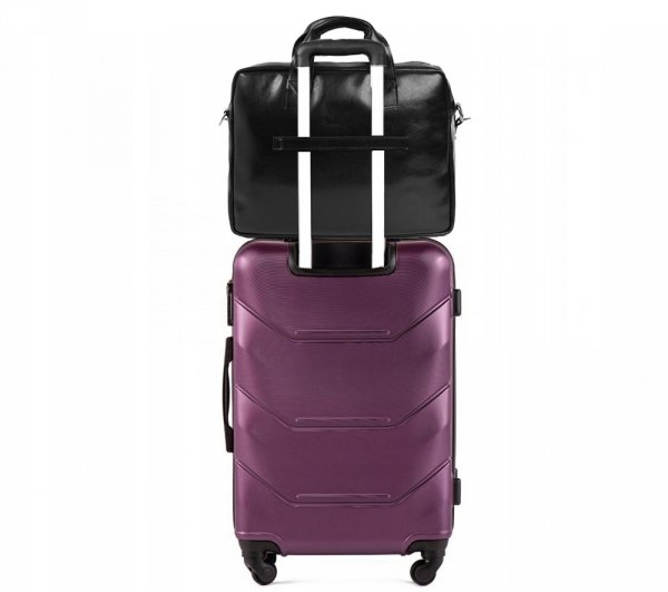 Skórzana torba na laptop Solome premier czarna detal 3