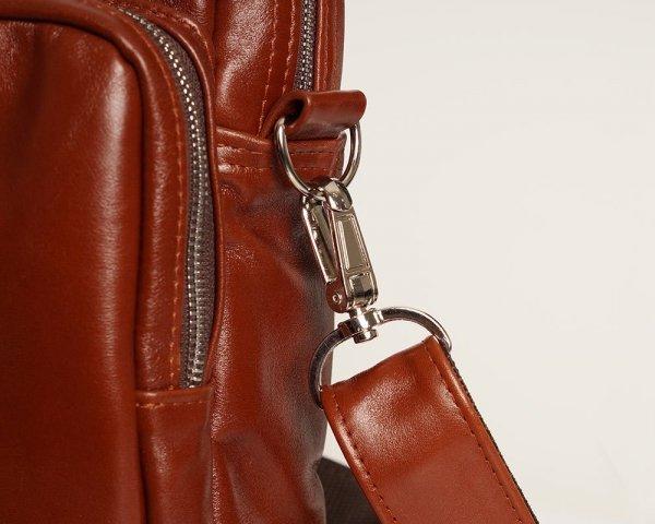 Skórzana torba na laptopa Solome premier karmel detal 3