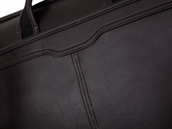 Torba na laptop Solier S13 brązowa detal 1