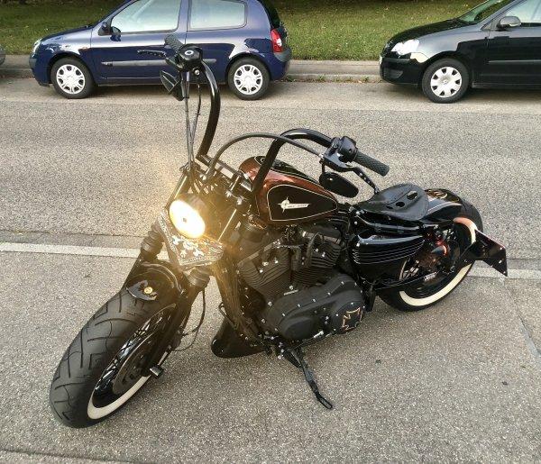"""18"""" Handlebar Steel Thorn 116  Breakout Victory XV XVS VN VS VZR VT VTX Harley Springer 1-1/4"""""""