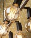 LAMPA WISZĄCA MIAMI/H8/B CZARNA INDUSTRIALNA LOFT
